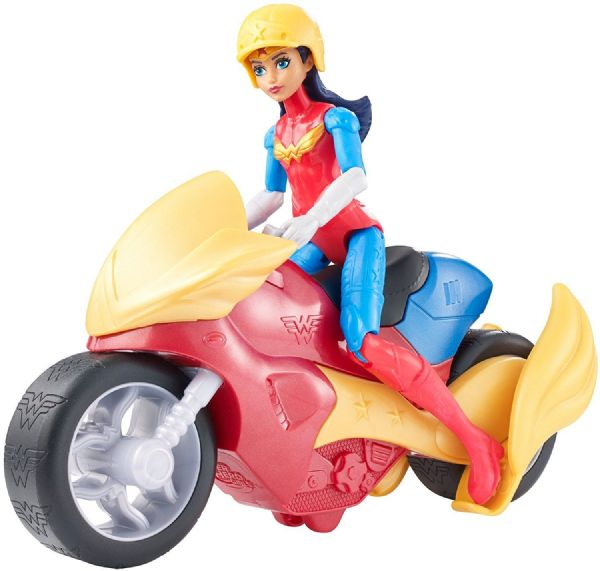 DC Super Hero Girls Wonder Woman or Batgirl with Motorcycle Vehicle